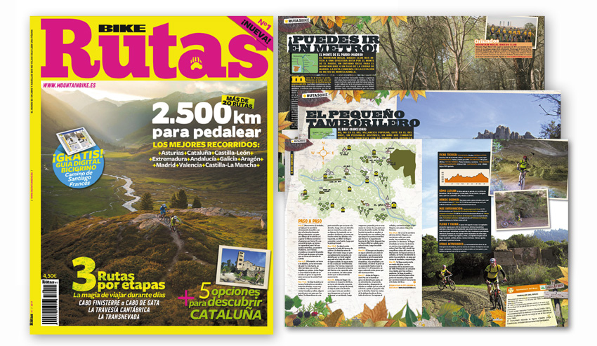 BIKE Rutas, 2.500 kilómetros para pedalear