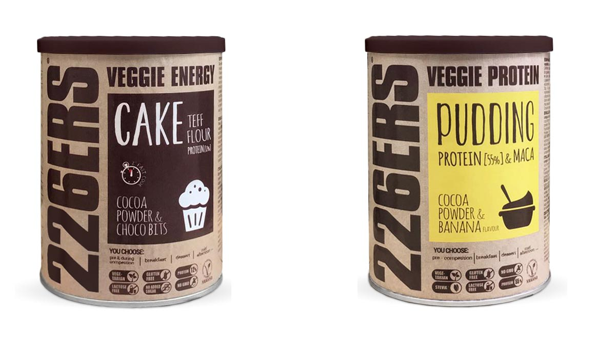 Veggie Protein Pudding y Veggie Energy Cake, lo nuevo de 226ERS