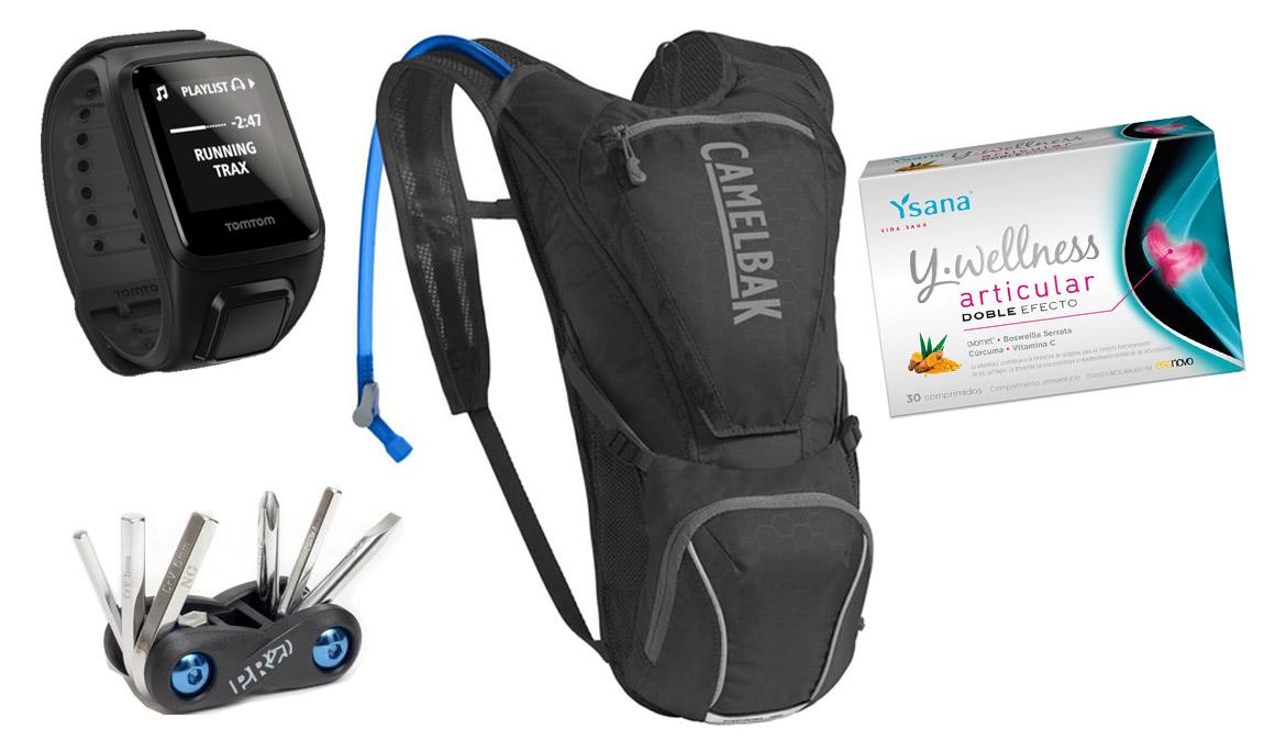 Sorteamos dos TomTom Runner 2, un Camelbak Rogue, 5 multi herramientas Pro y 20 packs Ysana Y-wellness articular