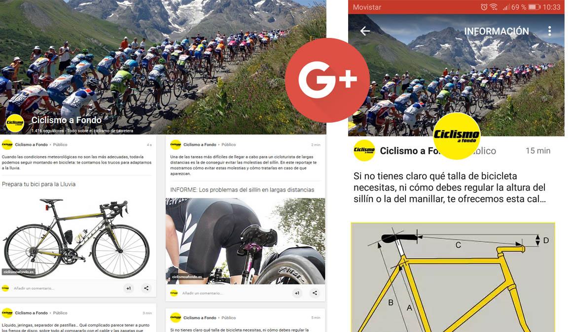 Ciclismo a Fondo también en Google Plus
