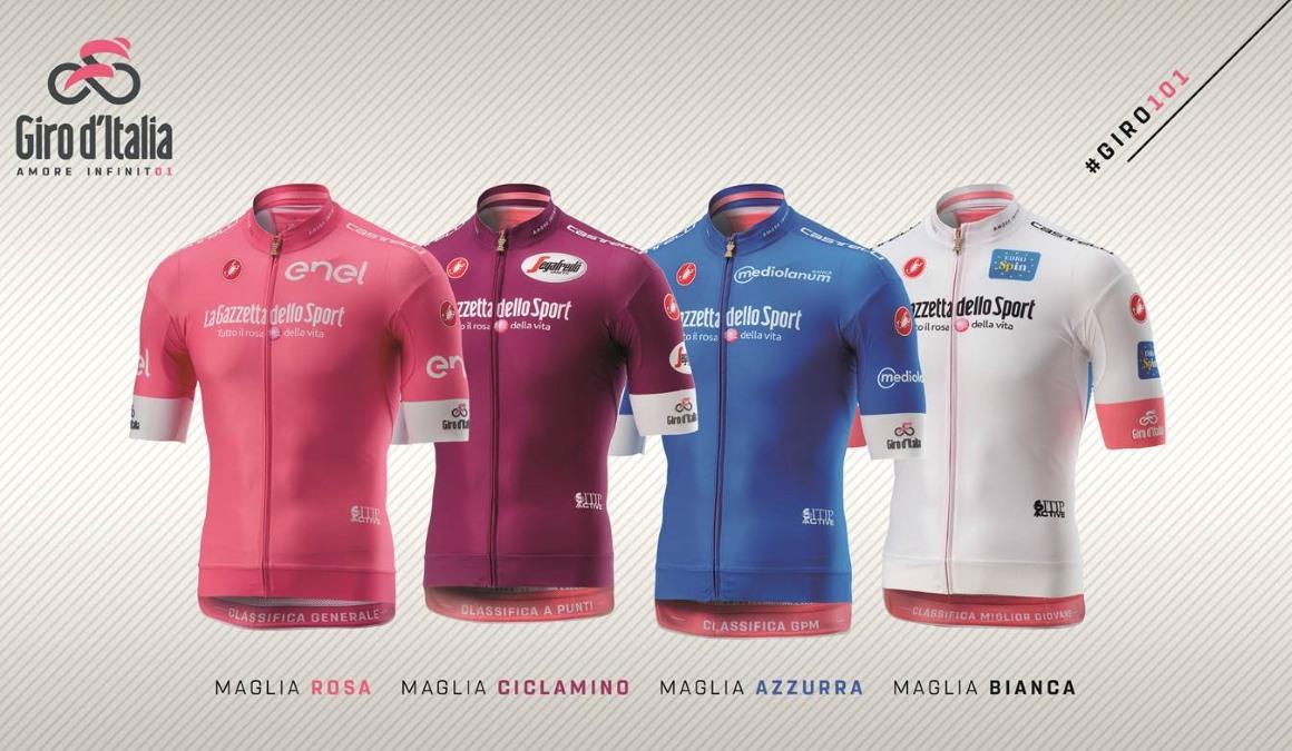 El Giro de Italia 2018 presenta sus maillots