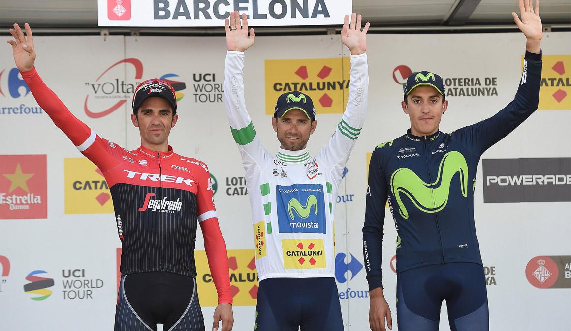 Valverde, Quintana y Marc Soler, líderes de Movistar en la Volta