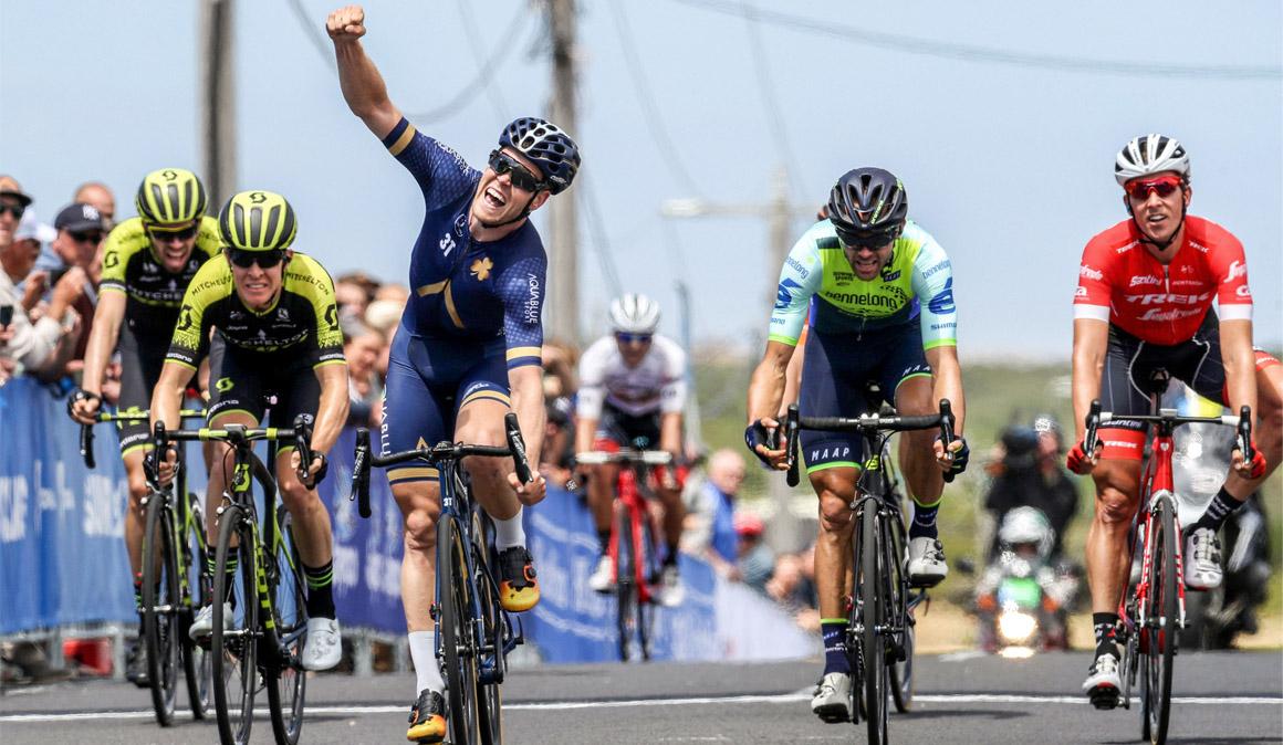 Norman Hansen gana la primera etapa y es el nuevo líder del Herald Sun Tour