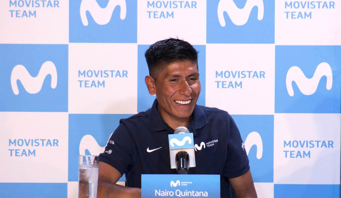 Rueda de prensa de Nairo Quintana en Colombia