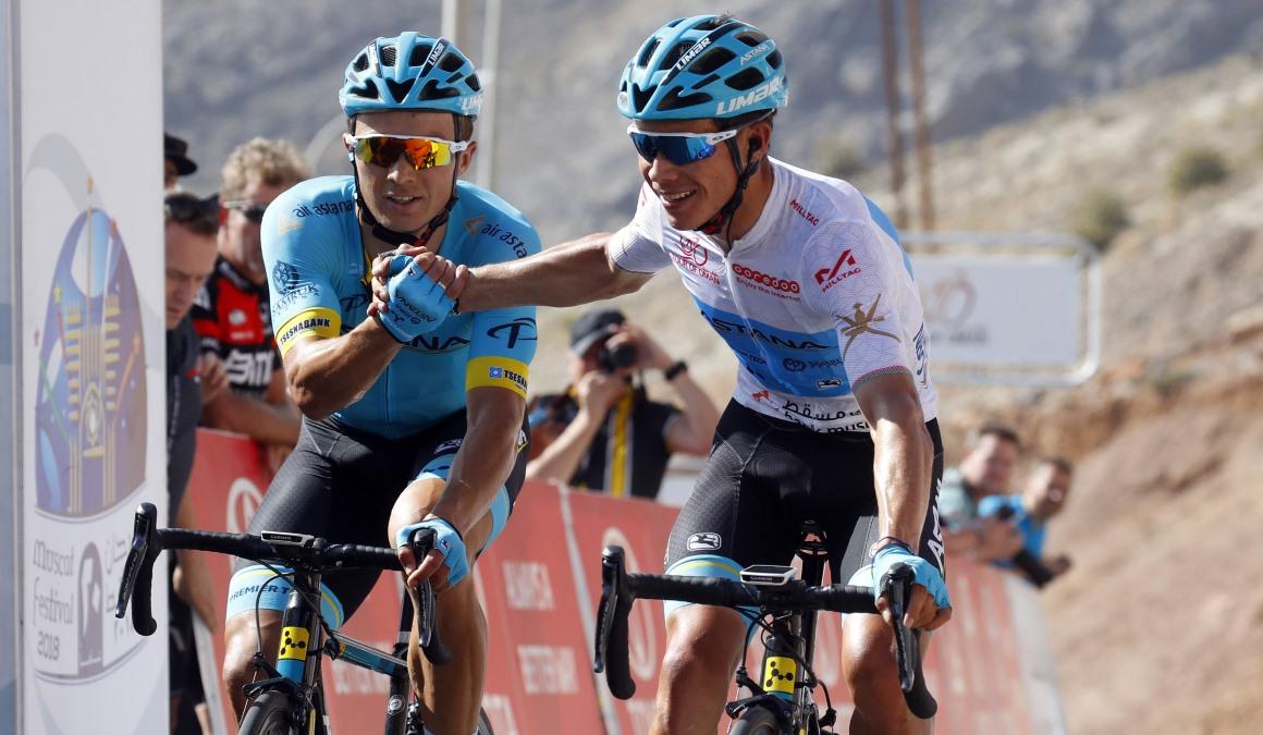 Exhibición de Astana en la etapa reina del Tour de Omán