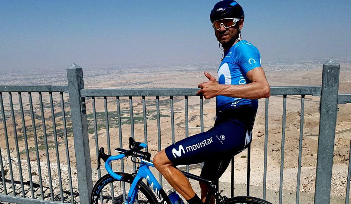 Valverde, referencia del Movistar en el Abu Dhabi Tour