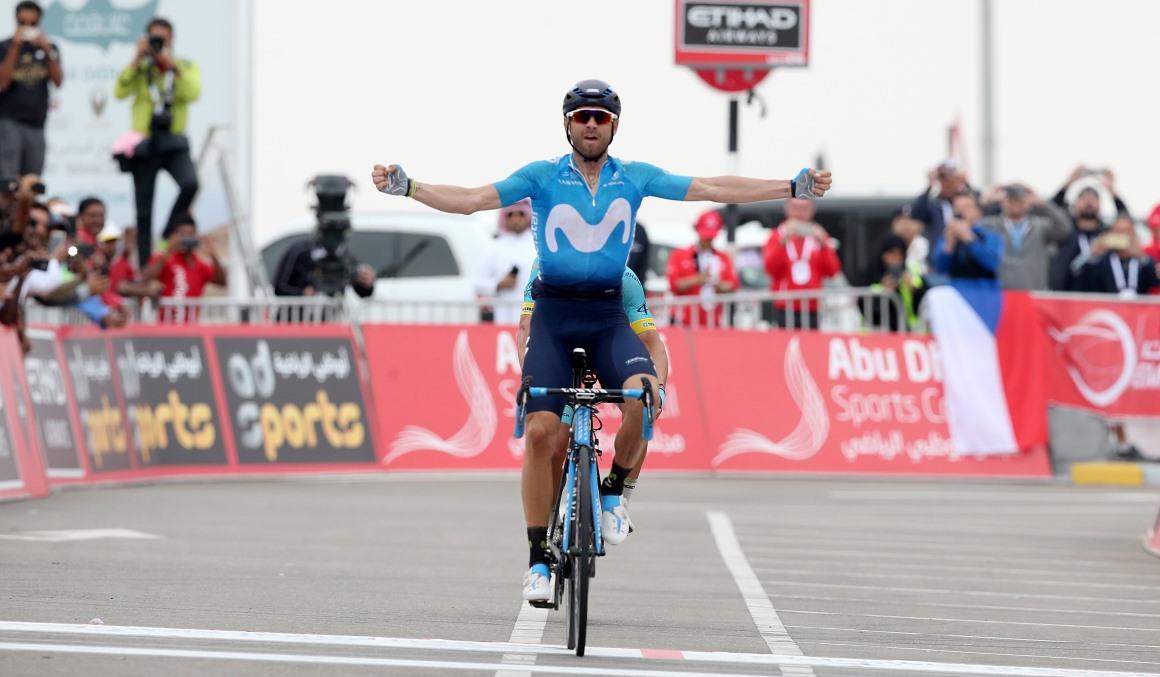 Nueva exhibición de Valverde en el Tour de Abu Dabi