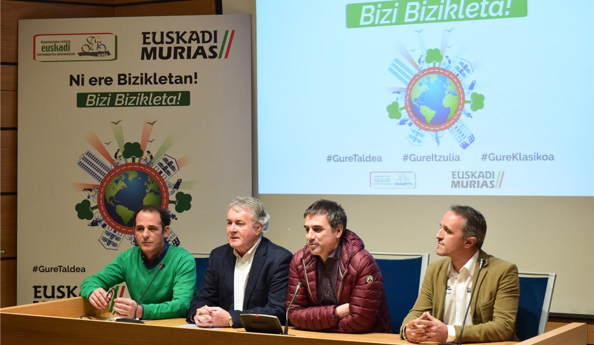 Euskadi-Murias y la Itzulia se unen para fomentar el uso de la bicicleta