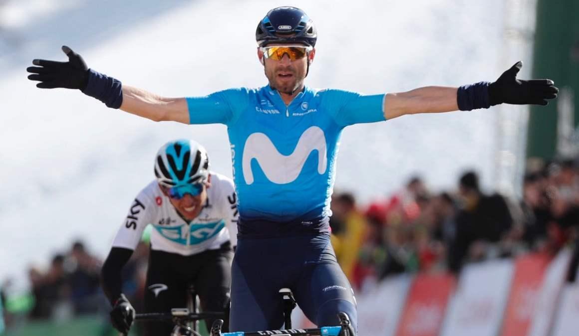La Volta, 4ª etapa: Movistar controla, Valverde domina