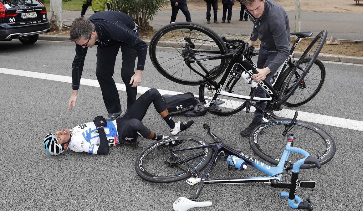Egan Bernal sufre fractura de clavícula
