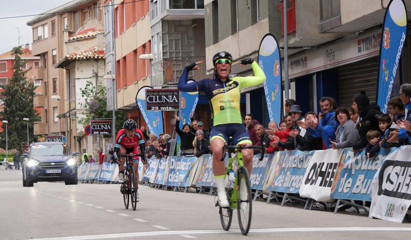 Ziortza Isasi, primera líder de la Vuelta a Burgos