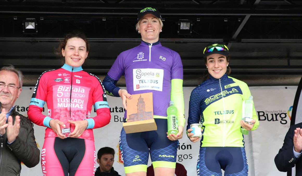 Exhibición del Sopela Women´s Team para cerrar la Vuelta a Burgos