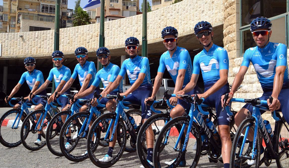 Los Movistar Team, preparados para el Giro