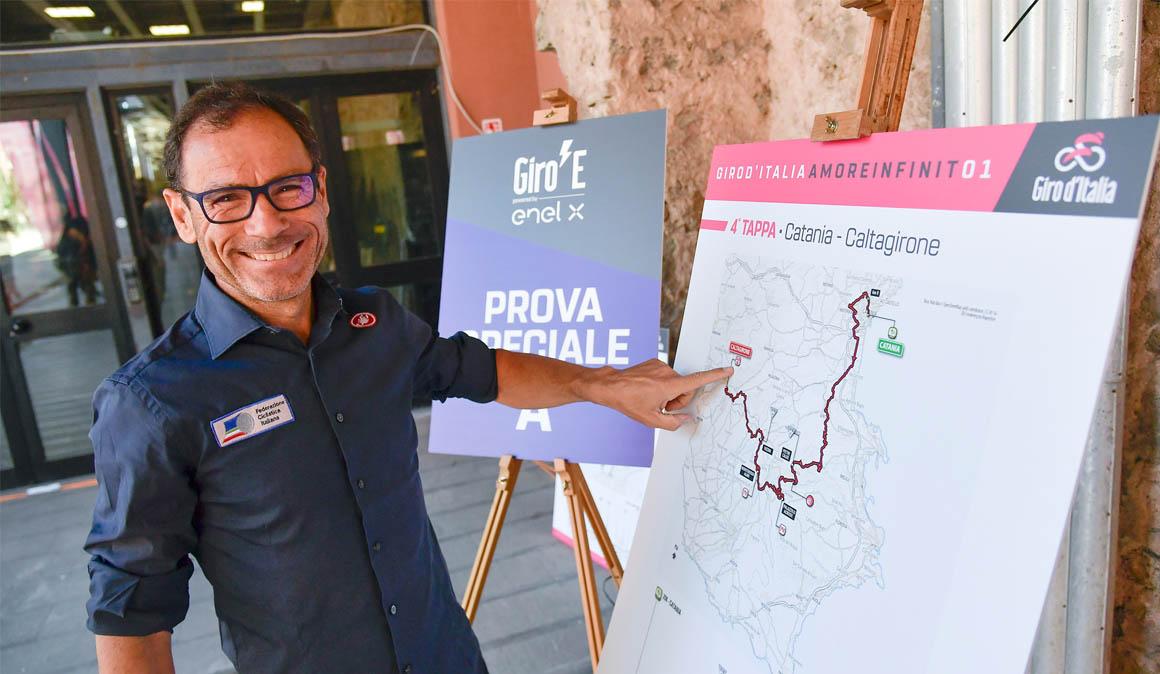 Hoy etapa del Giro E: bicicletas con asistencia eléctrica en la Corsa Rosa