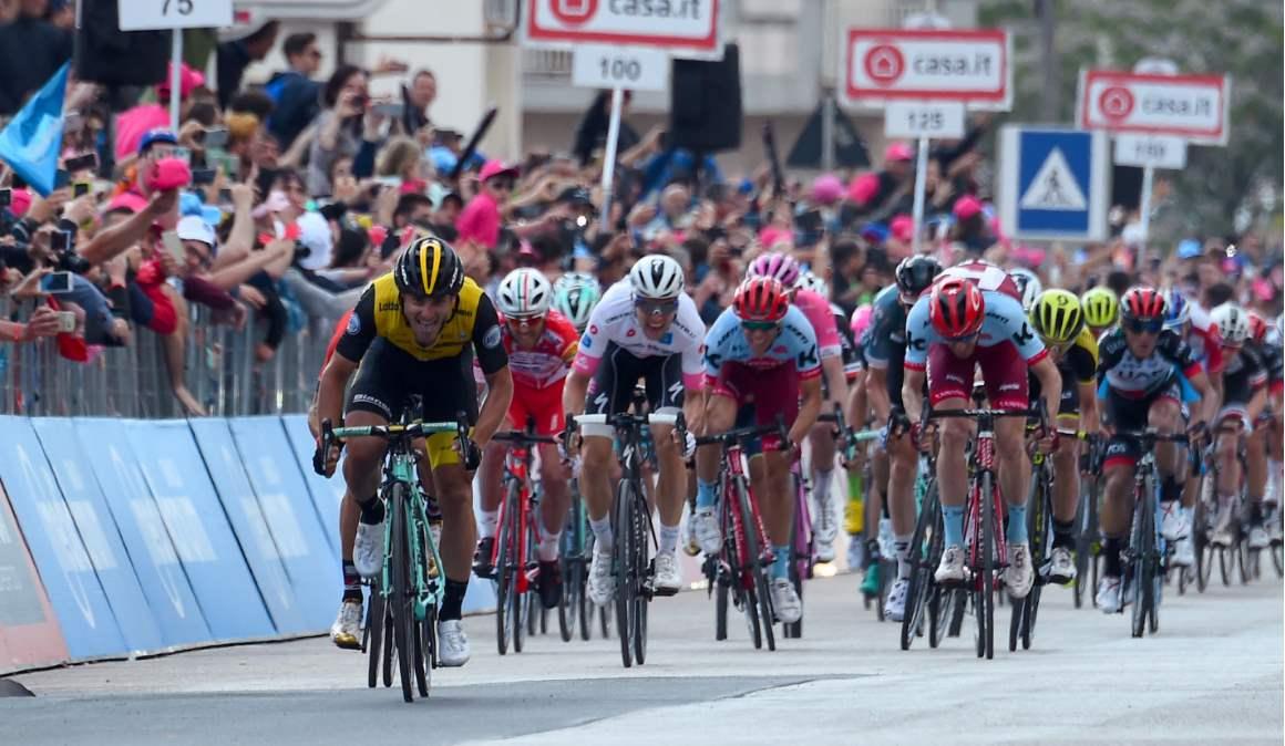 Giro de Italia, 5ª etapa: Battaglin mantiene el dominio italiano al sprint