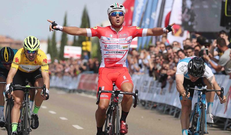 El italiano Malucelli se impone en Zaragoza y Aberasturi sigue líder de la Vuelta a Aragón