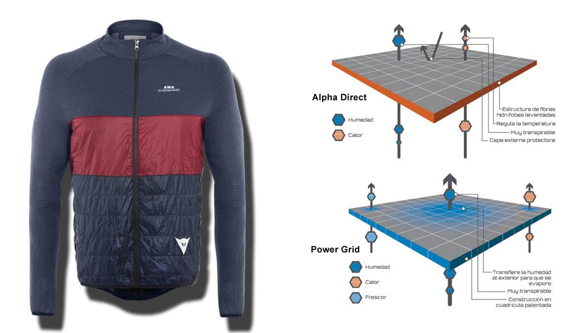Maillot Dainese Awa  Hybrid  Jacket