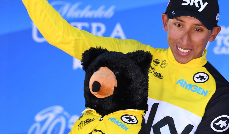 Egan Bernal, ganador final de un Tour de California muy colombiano