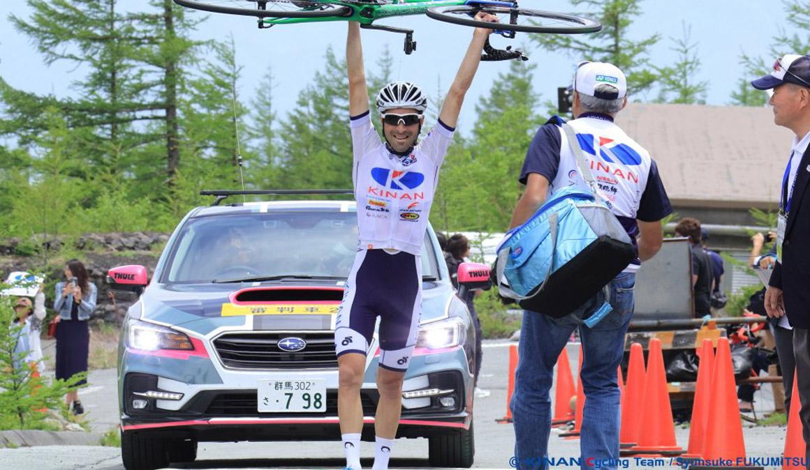 Marcos García gana en el Monte Fuji y lidera el Tour de Japón