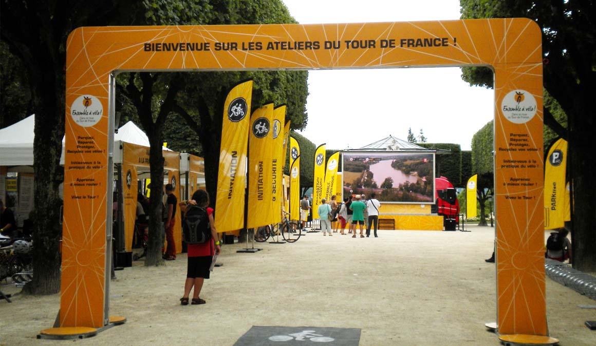 Los talleres del Tour de Francia