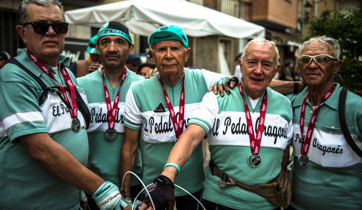 Eroica Hispania: personas que disfrutan de la fatiga y el esfuerzo