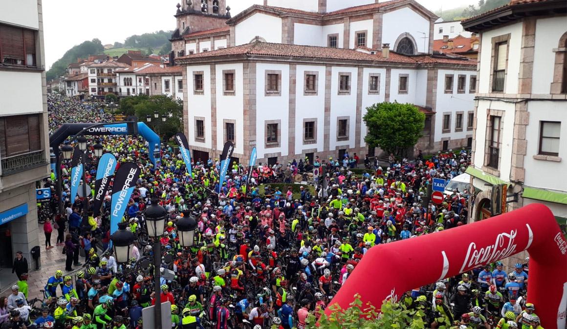 Más de 4.000 participantes en la marcha Lagos de Covadonga Ride 2018 by Movistar