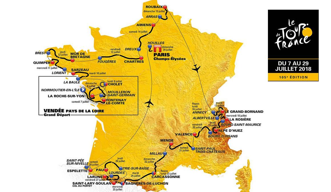 El recorrido del Tour de Francia al detalle