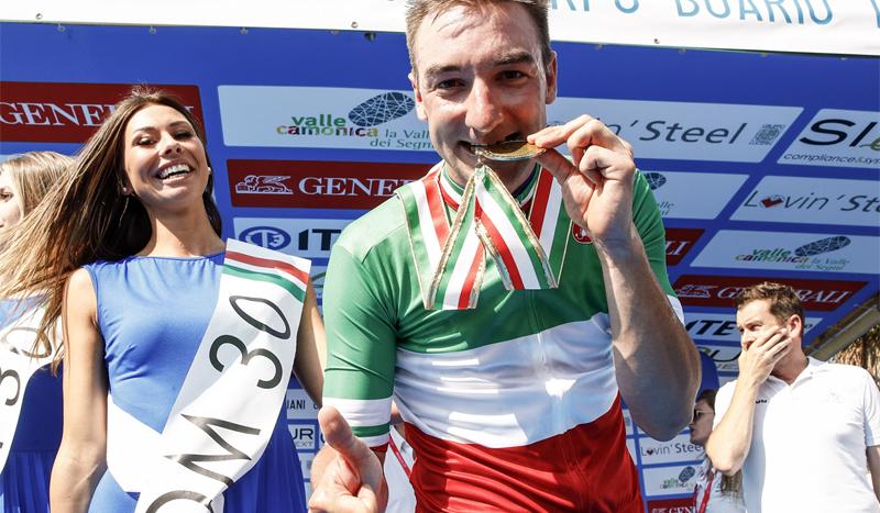 Elia Viviani, campeón de Italia de fondo en carretera