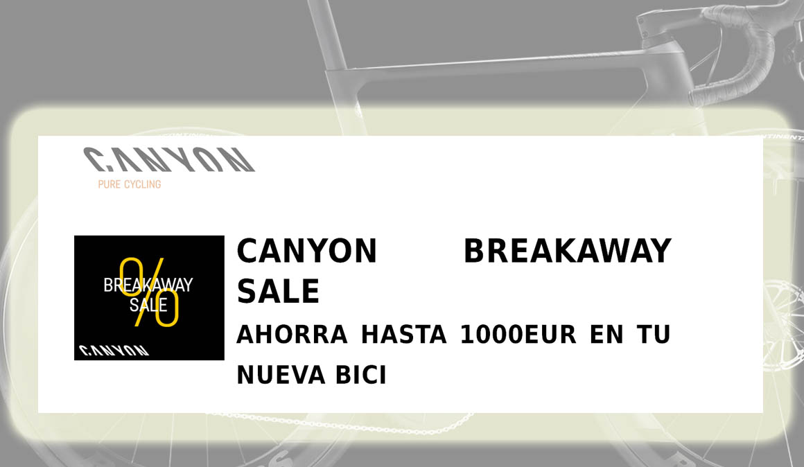 Canyon Breakaway Sale