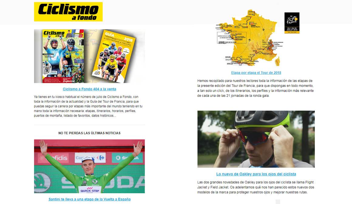 ¿Quieres recibir el boletín de Ciclismo a Fondo?