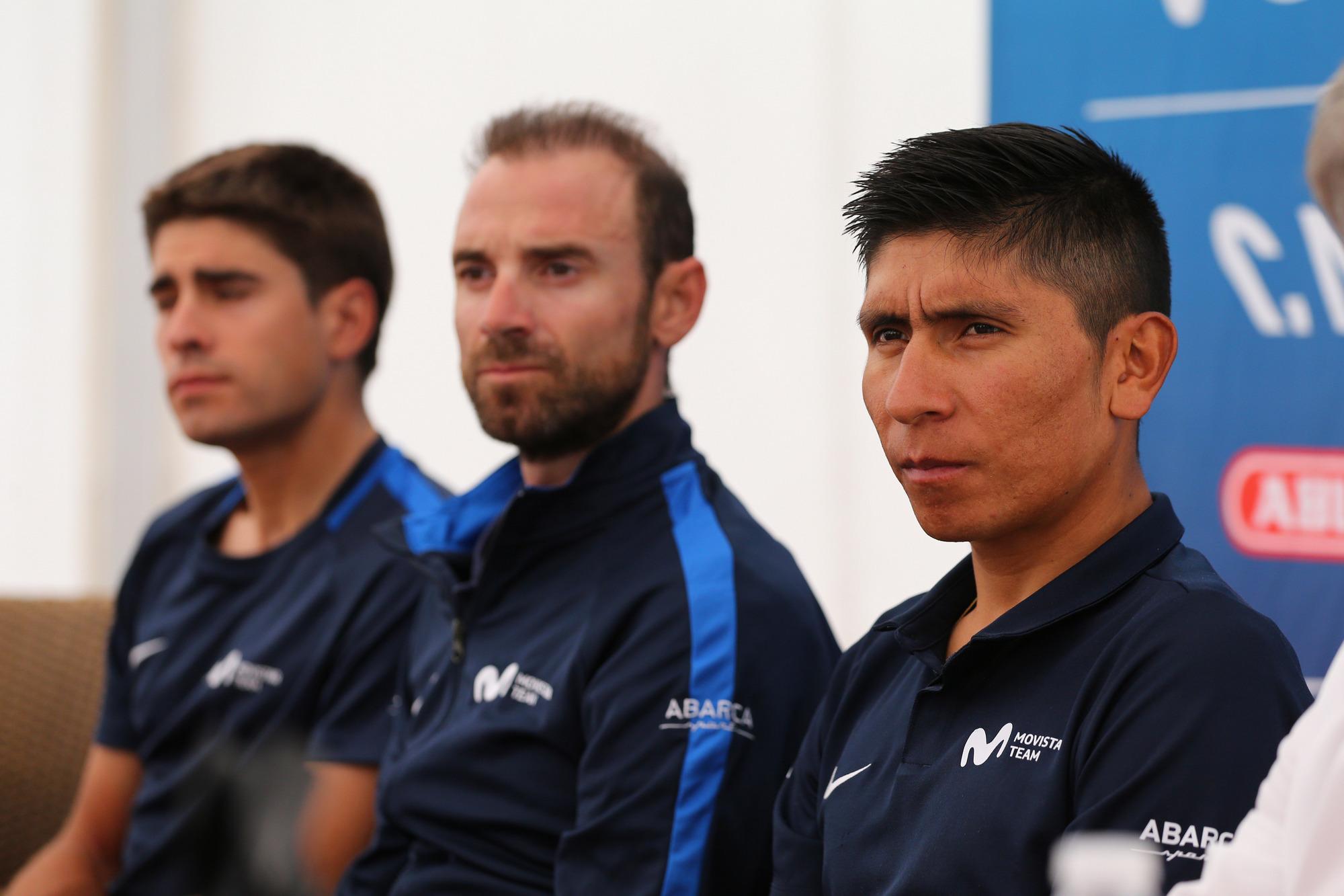 Los líderes del Movistar, satisfechos de sus nueve primeros días de Tour