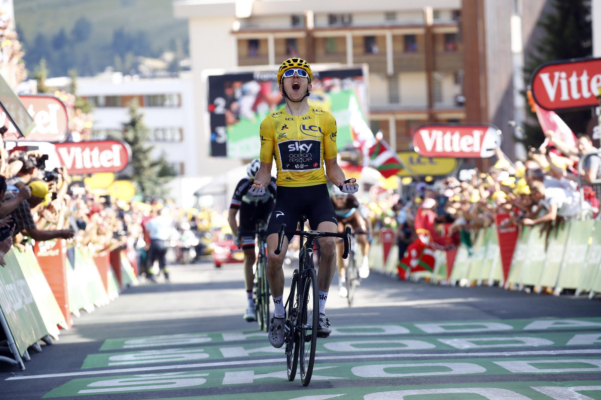 Thomas conquista Alpe D´Huez y es más líder