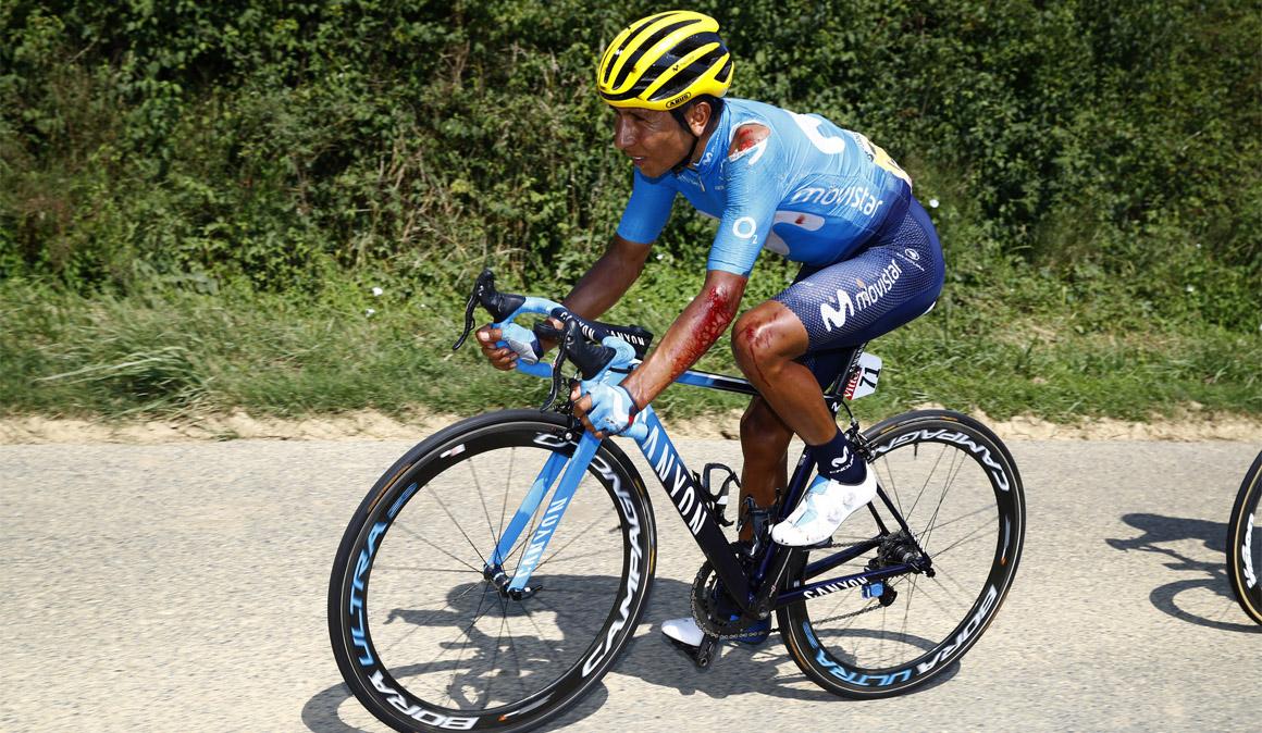 """Quintana: """"Espero hacer una buena etapa mañana a pesar de la caída"""""""