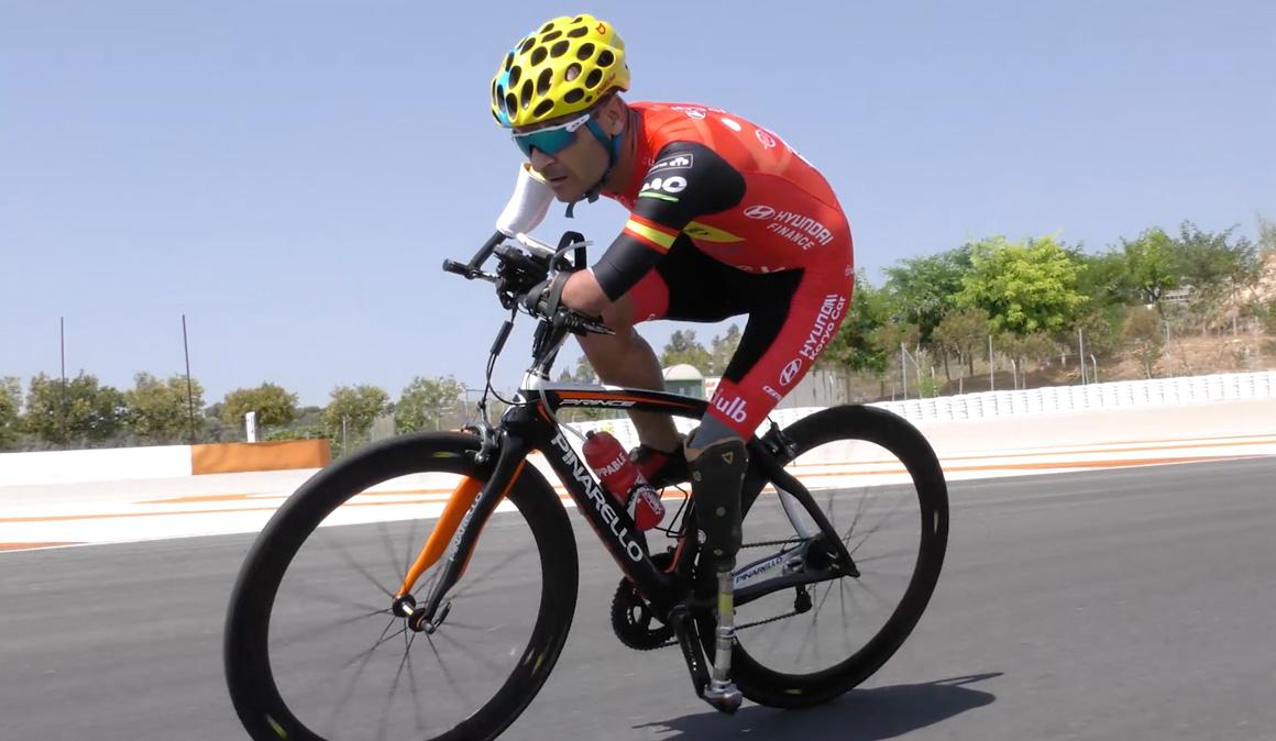 Ricardo Ten, bronce en la contrarreloj C1 del Mundial de ciclismo adaptado