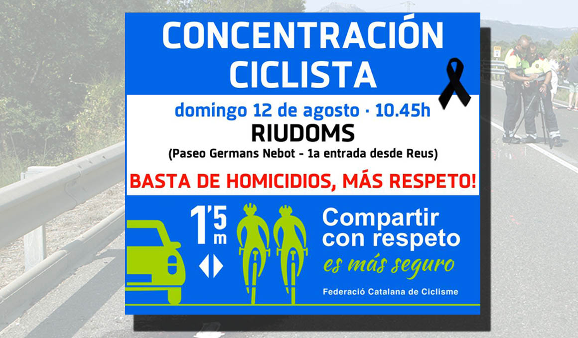 12 de agosto, concentración ciclista en Riudoms