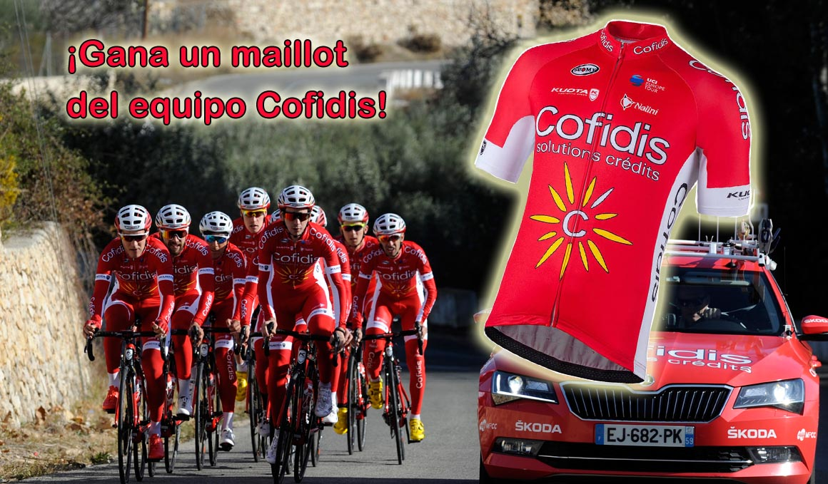 ¿Quieres un maillot del equipo Cofidis?