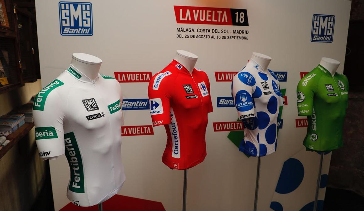 Santini viste a los líderes de La Vuelta