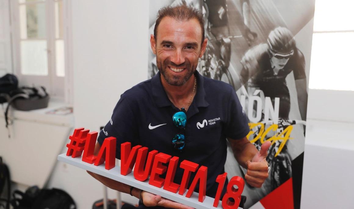 Valverde, en la Vuelta con la mirada puesta en el Mundial