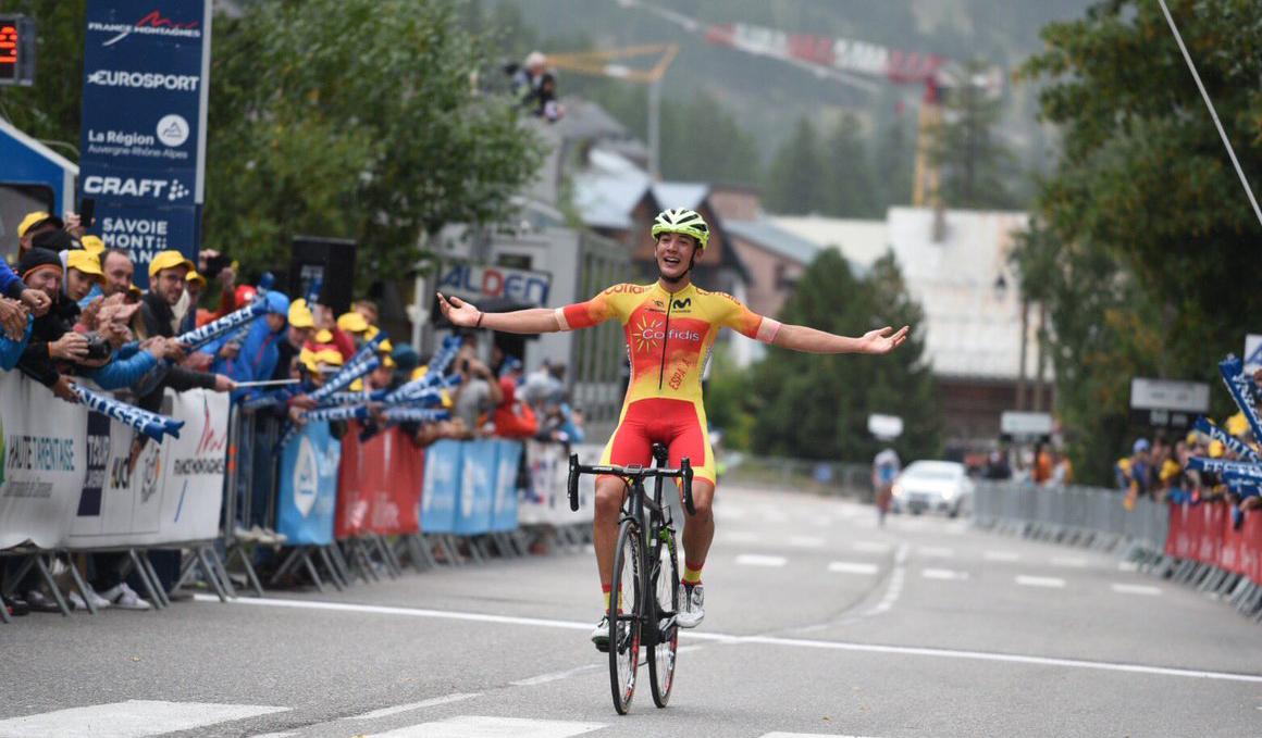 Gran victoria de Fernando Barceló en la penúltima etapa del Tour del Porvenir