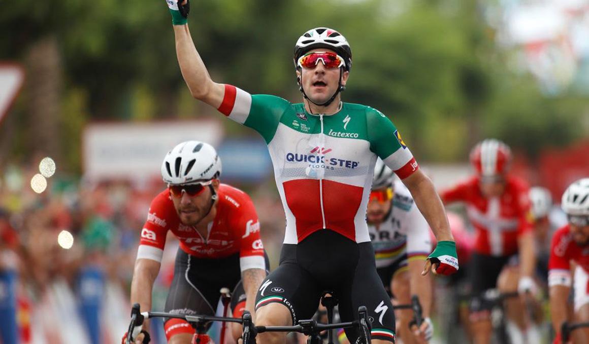 Vuelta: Viviani gana al esprint una etapa de desgaste