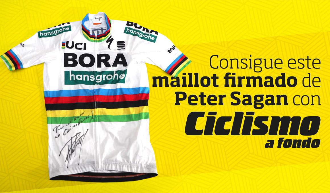 Consigue este maillot firmado por Peter Sagan