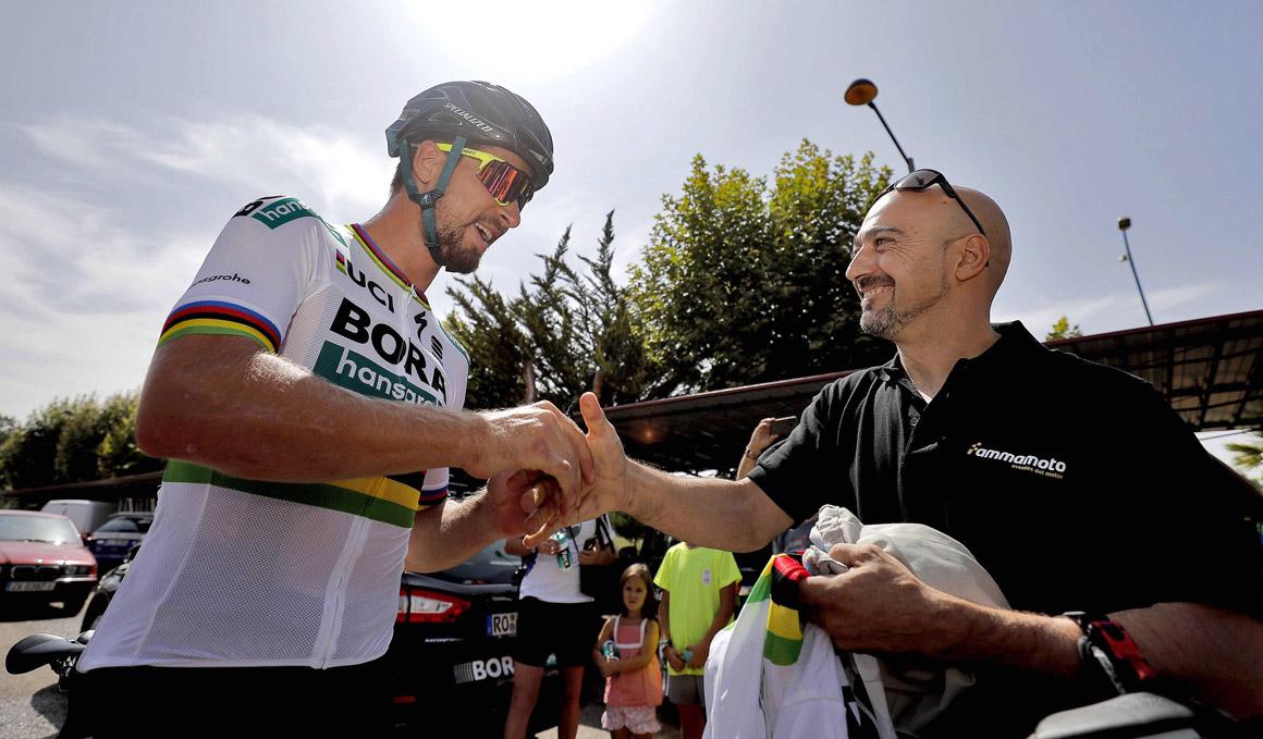 Sagan se reencuentra con el motorista que le derribó en 2015