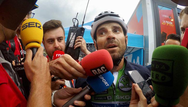 """Valverde: """"Se me ha escapado la etapa por no conocerla"""""""