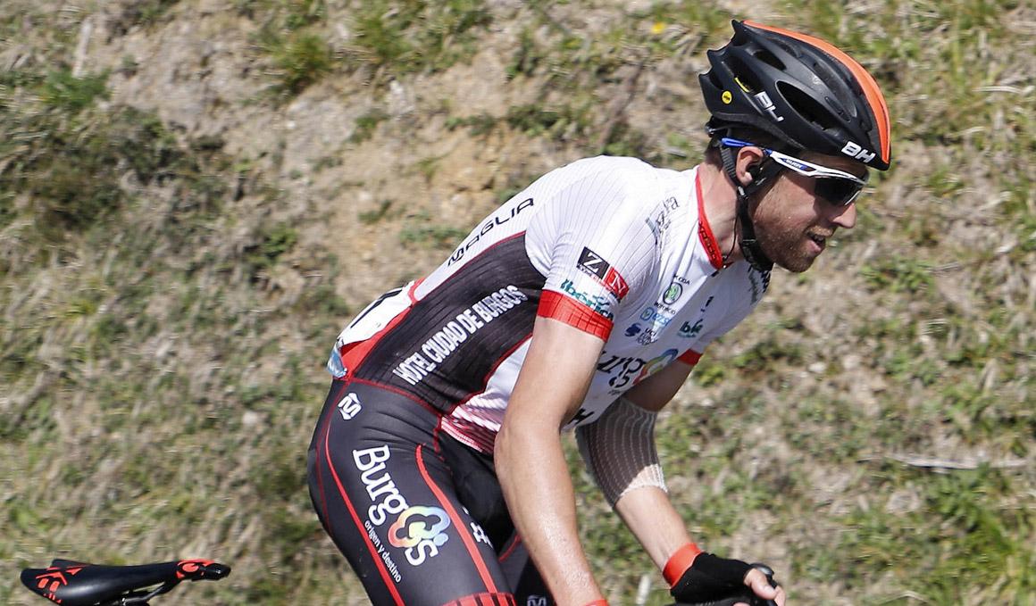Jordi Simón (Burgos BH), ingresado en la UCI tras chocar con el coche de Katusha