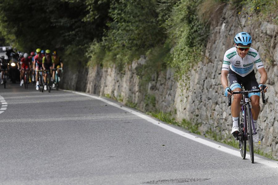 """Miguel Ángel López: """"Contento con el podio, pero quería ganar la etapa"""""""