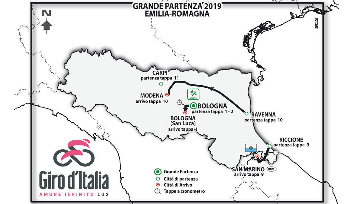 El Giro de Italia 2019 saldrá de Bolonia con una contrarreloj