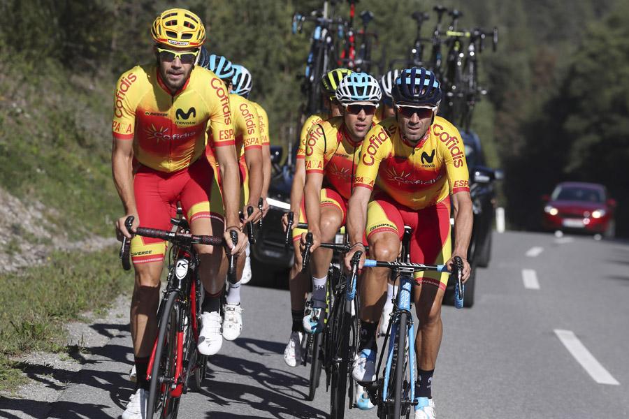 Toma de contacto de la selección española con el circuito de Innsbruck