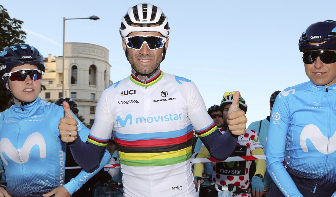 Valverde estrena el arcoíris en los Tres Valles Varesinos
