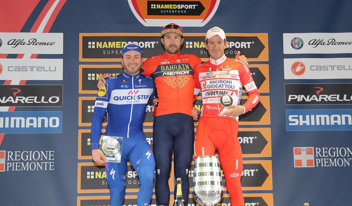 Colbrelli gana al esprint un Gran Piemonte pasado por agua