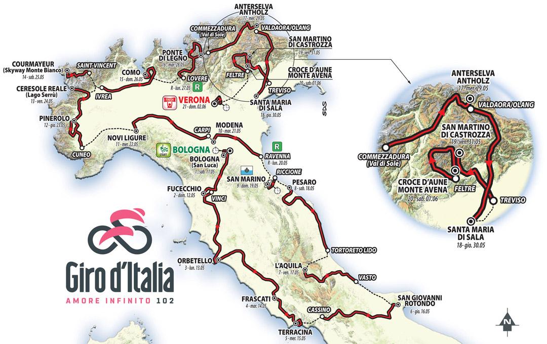 Un recorrido equilibrado para el Giro 2019